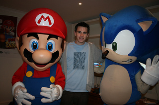 Ed with.. Mario and Sonic. Oh, the shame.